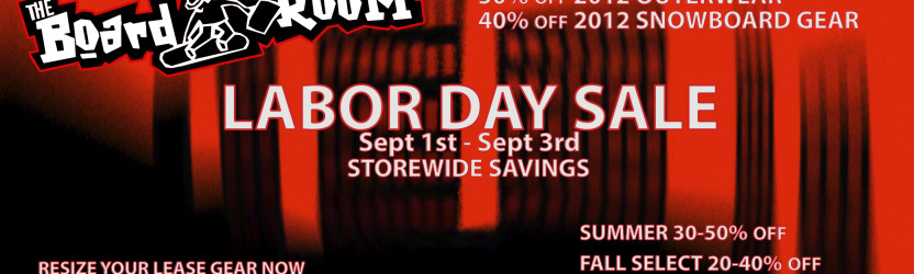 LABOR DAY WEEKEND SALE 2012