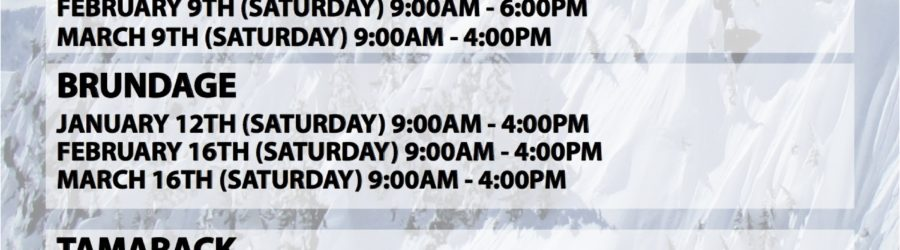ON-SNOW DEMO SCHEDULE 2013