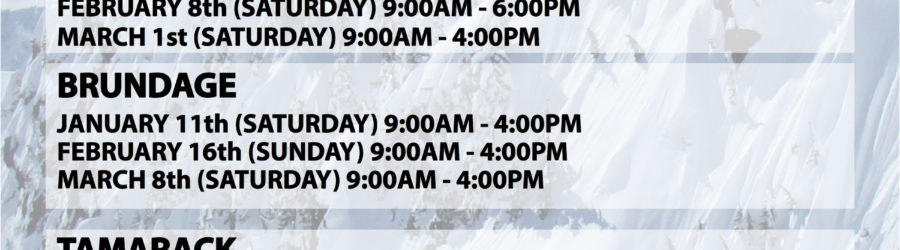 ON-SNOW DEMO SCHEDULE 2014